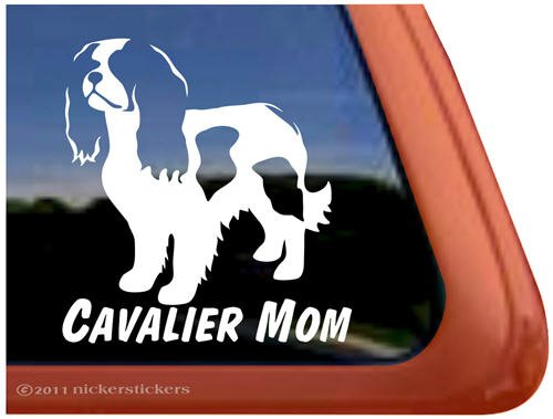 Cavalier Mom Vinyl Window Dog Decal Sticker