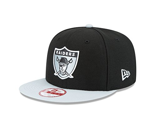 New Era NFL Historic Baycik Snap 9FIFTY Original Fit Cap, Black/Silver, One Size