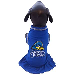 NCAA Delaware Fightin' Blue Hens Cheerleader Dog Dress, X-Small