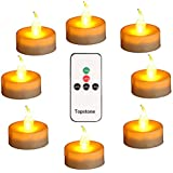 Topstone Led Tealight Candles with Remote and Timer,Warm Yellow Flameless Candles ,Big Capacity Battery Operated Tea Light,,
