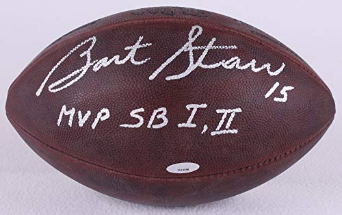 - Bart Starr Green Bay Packers Signed Autograph Authentic DUKE Leather Football Rare Multi Inscribed Tristar Authentic Certified