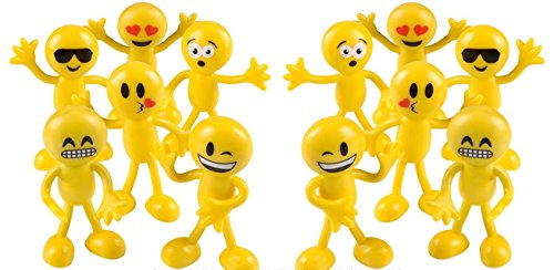 Emoji Party Favors Stocking Bendables