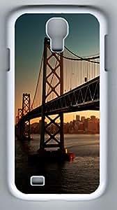Bridge Hard Cover Back Case For Samsung Galaxy S4,PC White Case for Samsung Galaxy S4