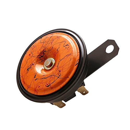 MagiDeal Universal Electric Horn Loud Dual Tone 12V 118DB for Car Van Motorcycle - Orange