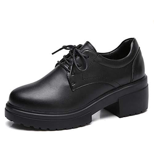 DECJ Zapatos De Mujer De Estilo Británico Grueso con Zapatos Casuales  Primavera Y Otoño Nuevos Zapatos 5d44bc1bd1e7