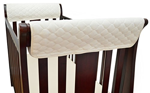 TL Care Organic Cotton Side Crib Rail Covers (Twin (Tl Care Organic Cotton)