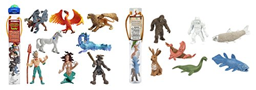 Safari Ltd Cryptozoology TOOB and Safari Ltd Mythical Realms TOOB bundled by Maven Gifts