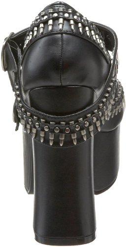 mujer tacón zapatos Demonia de Schwarz ftzUqv
