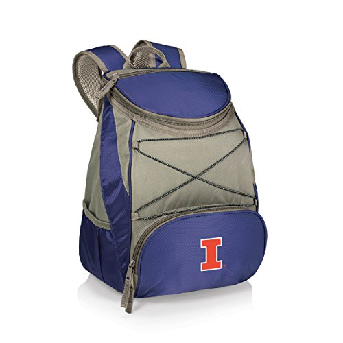 Illinois Fighting Illini Backpack (NCAA Illinois Fighting Illini PTX Insulated Backpack Cooler, Navy, Regular)