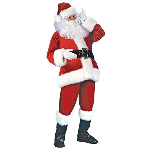 CHSGJY Santa Suit Deluxe Velour Christmas Costumes for Men Adult Fancy Dress X-Large by CHSGJY