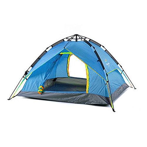 若者応援するステープルOXU 男性用 一居室 開くために速度を構築する無料 アルミニウム合金 ダブルアカウント ポリエステル生地 3 人 4 人 キャンプのテント
