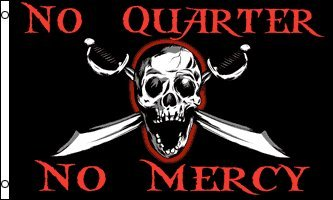 No Quarter No Mercy Pirate Flag 3x5ft Poly