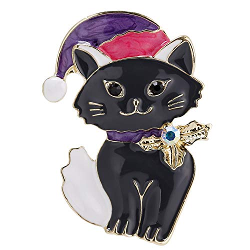VVANT Brooch for Women Lovely Cat Brooch Pin,Vintage Gifts for Birthday/Valentine's Day/Daily (Cat Black)