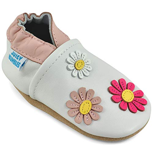Soft Leather Baby Girl Shoes - Baby Shoes with Suede Soles ()