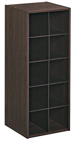 ClosetMaid 1546 Stackable 10-Cube Organizer, Espresso