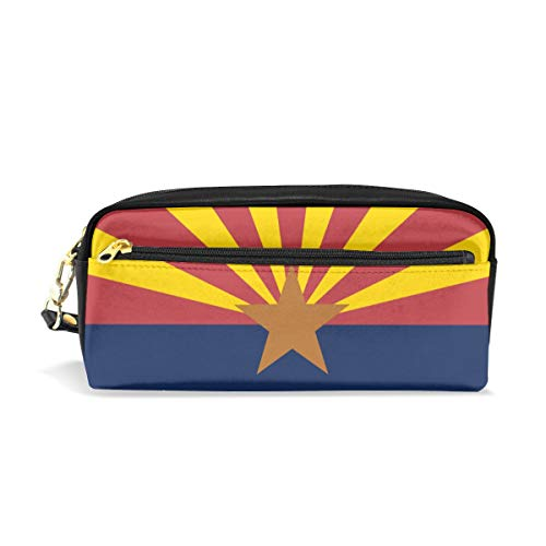 Anonymous Arizona State Flag Canvas Cosmetic Pen Pencil Stationery Pouch Bag -