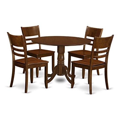East West Furniture DLLY5-ESP-W 5 Piece Dublin with 2 9