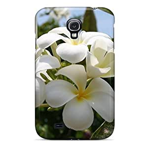 Hot Snap-on Beautiful White Summer Flower Hard Cover Case/ Protective Case For Galaxy S4