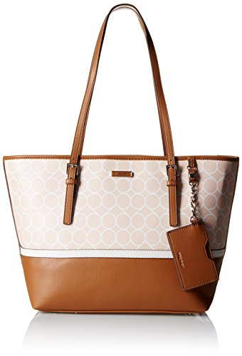Nine West Ava Tote, Light Cobblestone-White/Light Cobblestone/Pale Spearmint/Snow Petal (Snow White Handbag)