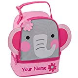 Stephen Joseph Personalized Elephant Lunch Pals Lunch Box Bag
