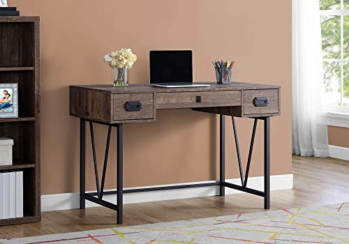 Monarch Specialties Laptop Table with Drawers-Industrial Style-Metal Legs Computer Desk Home & Office, 48