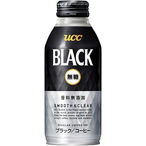 UCC BLACK no sugar SMOOTH & CLEAR recap cans 375gX24 this by Black sugar-free