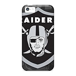 Tpu Shockproof/dirt-proof Oakland Raiders Cover Case For Iphone(5c)