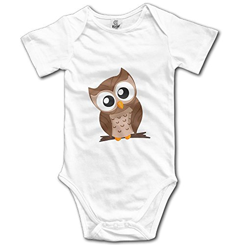 Dream-R Beautiful Owl Newborn Babys Boy's & Girl's Short Sleeve Romper Bodysuit Outfits For 0-24 Months White Size 6 M