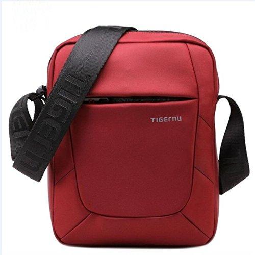 Borsa a tracolla Tigernu, borsa a tracolla, borsa multiuso resistente allacqua, borsa per tablet Rosso