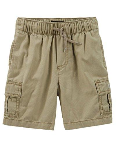OshKosh Boys Pull-On Cargo Shorts, Khaki (3 Toddler) (Shorts Boys Cargo Khaki Toddler)