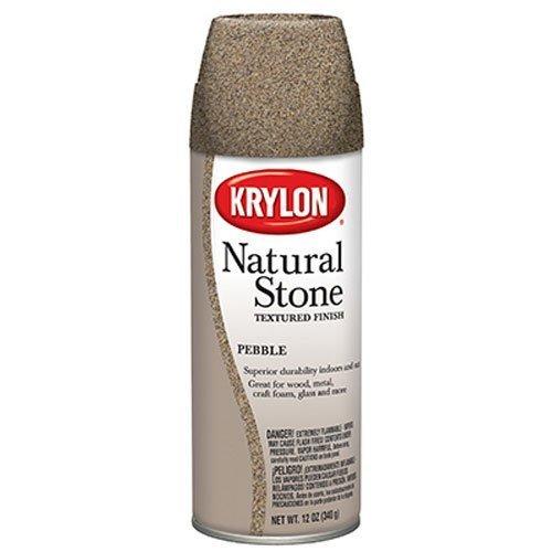 Krylon 3702 Natural Stone Decorative Aerosol, 12-Ounce, Pebble Finish by Krylon