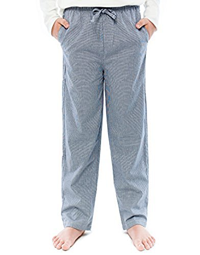 TINFL Boys Plaid Check Soft 100% Cotton Lounge Pants BP-63-Lightnavy-YL
