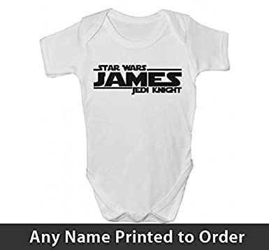 0a040e2c1 Personalised Baby Grows Vest Clothes Boys Girls - Star Wars Inspired ...