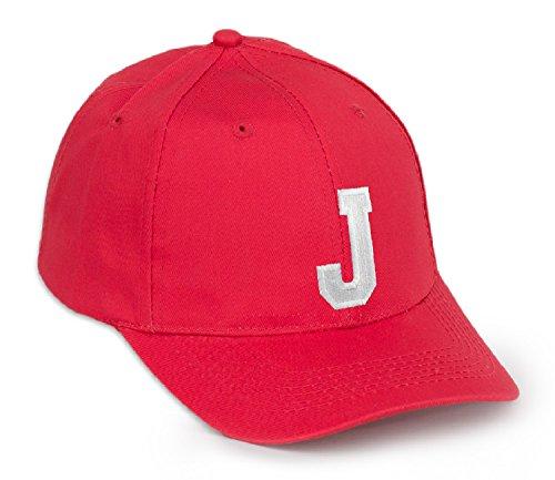 color béisbol J rojo Gorra letra con letras de Z A en negro wHnE5qx4p