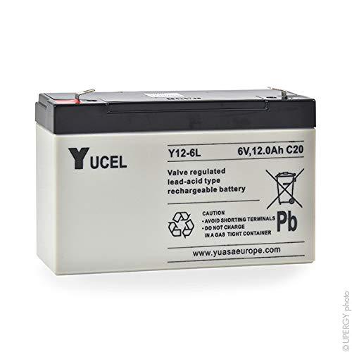 s Yucel Unit/é Batterie plomb AGM Y12-6L 6V 12Ah YUCEL