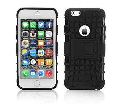 Deet® Apple iPhone 6[11,9cm] Noir Étui de protection arrière rigide résistant aux chocs.