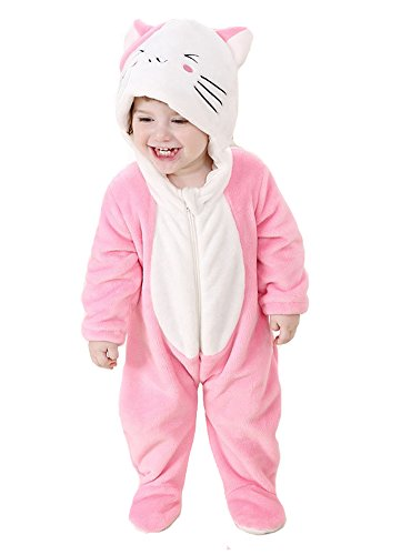 Tonwhar Unisex-Baby Cute Animal Kitten Costume Cartoon Romper (100(Height:31
