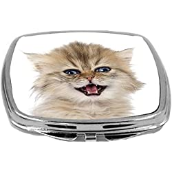Rikki Knight Persian Kitten Meowing Purebred Persian Kitten Crying Design Compact Mirror, 17 Ounce