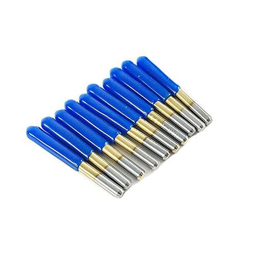 10pcs 30 Degree Carbide Flat Bottom Engraving Cutting Bits CNC Router Tool