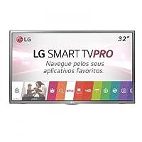 "Smart TV LG LED 32"" HD 32LJ601C Prata - 2 HDMI, 1 USB, Wi-Fi Integrado"