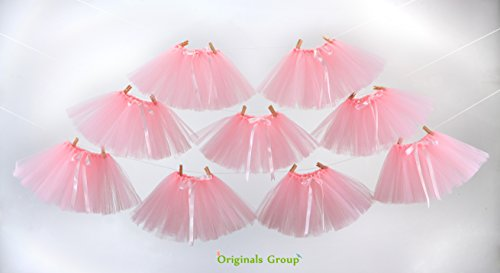 Originals Group Tutu Table Skirt,Baby Pink Tulle Tutu Table Skirt Decor, Birthday Event Wedding Party Decoration (Mini Pink Tutu Garland) by Originals Group (Image #1)