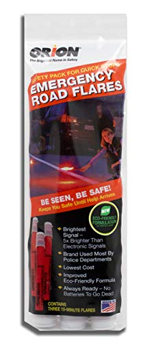 Orion Safety Products 3153-08 3-15 Minute Road Flares (1 Pack of 3 Flares)- Model # -