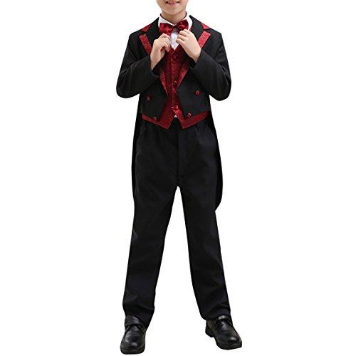 Boyland Boys Swedish Vintage Evening Tuxedo w Tails Notch Lapel Steampunk Jacket