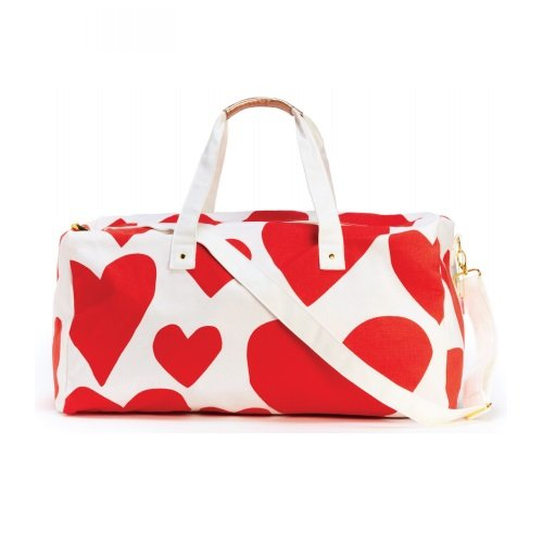 Bando-51215-Extreme-Super-Cute-Hearts-Getaway-Duffle-Bag