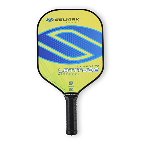 Selkirk Latitude Widebody Composite Pickleball Paddle - USAPA Approved - PowerCore Polymer Core - PolyFlex Composite Surface - EdgeSentry Protection - ThinGrip Handle (Lemon Blueberry)