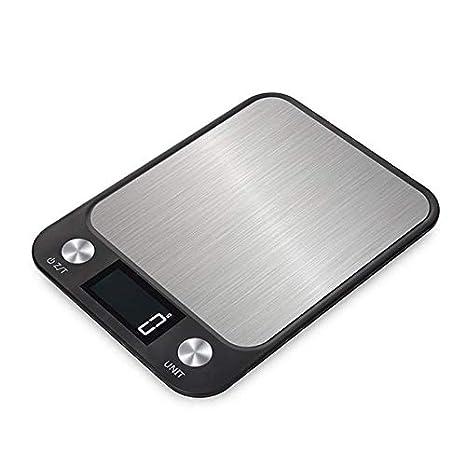 ALDD 5 kg LCD Digital de Cocina balanza de Acero Inoxidable ...
