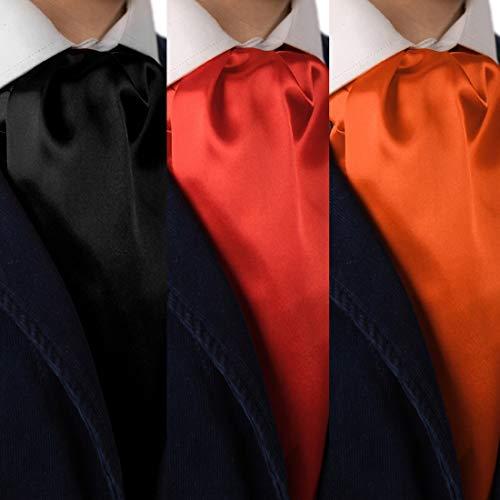 e041d4d66cfd Dan Smith Men's Fashion Satin Set of 3 Cravats Self-tie Ascot Ties Set