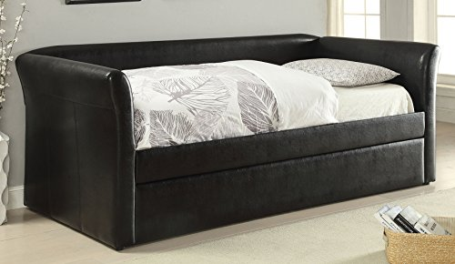 ACME Misthill Black Faux Leather Daybed & ()