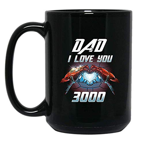 DAD I Love You 3000 T-Shirt Awesome Mug Love DAD Shirt Hoodie Gifts for Women Men Boys Girls Big Fans Standard Coffee Mugs, Fathers Day Gifting ideas - Premium Quality printed (Black, 15oz.)]()