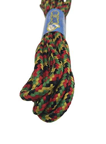 Big Laces Round Rasta Multi Coloured 210cm Bootlaces
